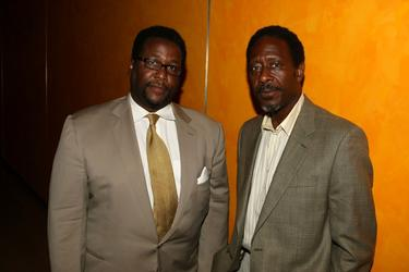 Wendell Pierce and Clarke Peters at the Museum of the Moving Image presentation of HBO&#39;s &quot;The Wire&quot; reception.